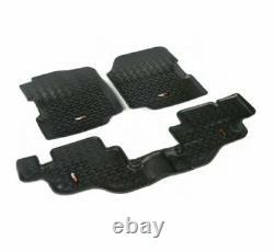 Rugged Ridge 12987.09 Black All Terrain Floor Liners Kit for CJ7/Wrangler YJ