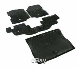 Rugged Ridge 12988.09 Black All Terrain Floor Liners Kit for CJ7 & Wrangler YJ