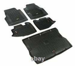 Rugged Ridge 12988.10 All Terrain Black Floor Liners Kit for Jeep Wrangler TJ/LJ