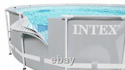 SWIMMING POOL INTEX 366cm 12ft Garden Round Frame Ground Pool + REPAIR KIT