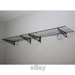 Safe Racks Wall Shelf Combo Kit Two Shelves Four Deck Hooks Multi Purpose Use
