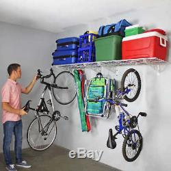 SafeRacks Wall Shelf Combo Kit, Two 18x 48 Shelves, Four Deck Hooks