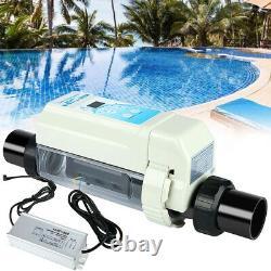 Salt Chlorine Generator With Power Complete Kit 10K Gal Pool Water Treatment