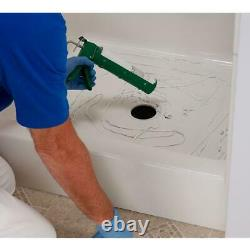 Shower Floor Repair Inlay Kit Strong Easy installation White 24 in. X 24 in