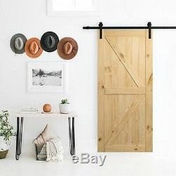 Sliding Barn Wood Door Kit Hardware 42x84in Home Pantries EASY INSTALLATION NEW