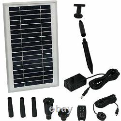 Solar Powered Water Pump and Panel Kit with Battery Pack and Remote Control, Use