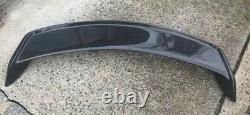 Sport Carbon Fiber Rear Trunk Tail Spoiler Wing Lip Trim Decor Universal