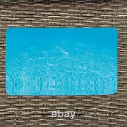 Summer Waves 22FTx52 Crystal Vue Dark Double Rattan Print Elite Frame Pool KIT