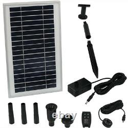 Sunnydaze Solar Pump Kit with Remote Control Battery Pack 105 GPH 55 Lift