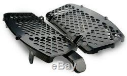 Trail Tech Radiator Fan Cooling Kit With Black Braces For KTM 125-500 7322C-FN3