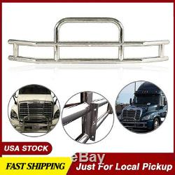 Truck Chrome Stainless Steel Front Bumper Grill Bar Guard Fit Cascadia 2008-2017