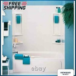 Tub Shower Wall Kit 5-Piece Shelf Towel Bar Set Easy Install 60 X 31 Bathroom