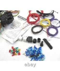 Universal 22 Circuit Wiring Harness kit easy painless install Rat Hot Rod
