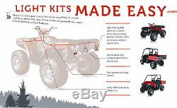 Universal ATV UTV TURN SIGNAL KIT with Horn & Wire Harness Easy Install Made USA