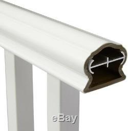 Vinyl Traditional Rail Kit 8 ft. X 36 in. Low Maintenance Easy DIY Install White