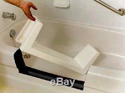 Walk-In BathTub Shower Easy Step-Through Insert DIY Installation Kit White