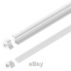 White Aluminum Stair Hand Base Rail Kit 6 ft Porch Balcony Deck Easy Install
