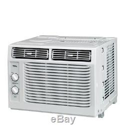 White TCL 5,000 BTU Window Air Conditioner EASY installation kit included
