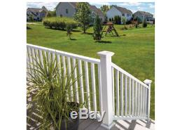 White Vinyl Traditional Rail Kit Easy to install Railing is made of Durable